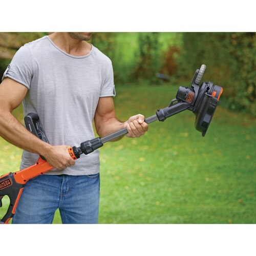 Black and Decker - 18V POWERCOMMAND Easy Feed 28cm AkkuRasentrimmer - STC1820EPC